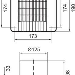 Louvre Badlüfter Ø125mm mit autom. Verschluss, Feuchtigkeitssensor, Nachlauf – weiß