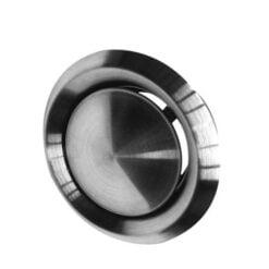 Abluft-Tellerventil Edelstahl für Ø100 mm