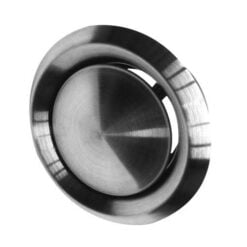 Abluft-Tellerventil Edelstahl für Ø125 mm