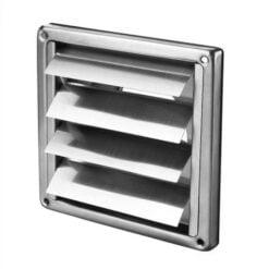 Verschlussklappe Edelstahl 185×185 mm für Ø150 mm