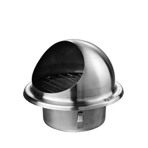 Ablufthaube Edelstahl für Ø150 mm
