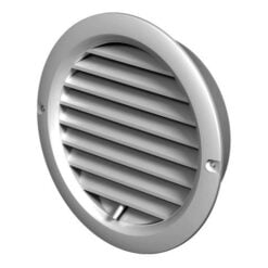 Lüftungsgitter verschließbar und verstellbar, Kunststoff weiß Ø100-150 mm
