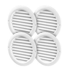 Möbelgitter 4x Kunststoff weiß Ø47 mm x 59 mm